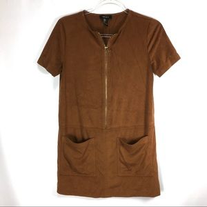 Forever 21 Dress Shift Faux Suede Mini Size Small